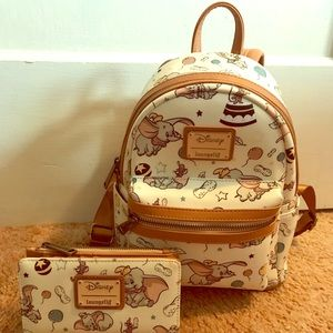 Loungefly Disney Dumbo Backpack and Wallet Set
